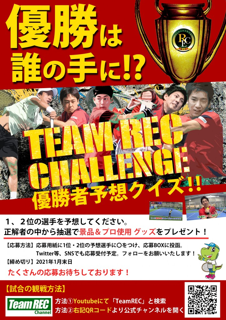 TeamRECチャレンジ優勝者クイズ