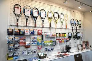 テニス用品コーナー